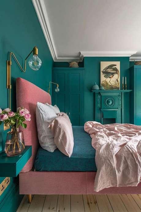 10. Quarto verde e rosa, super alegre e moderno – Via: Pinterest