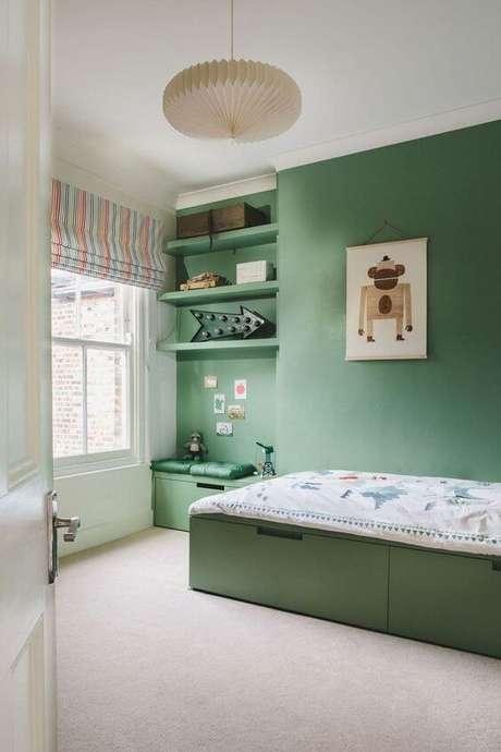 19. O quarto de menino verde pode ser a cara dele! – Via: Luna