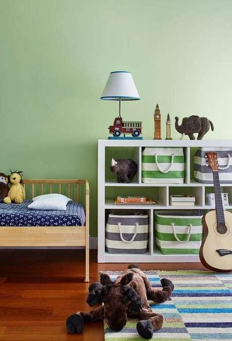 21. Quarto verde para crianças – Via: Pinterest
