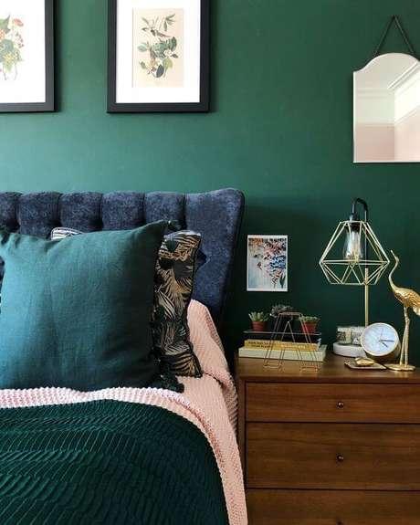 26. Quarto verde para casa moderna – Via: Pinterest