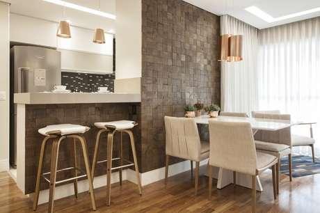 53. Banquetas para cozinha com um design elegante e diferenciado
