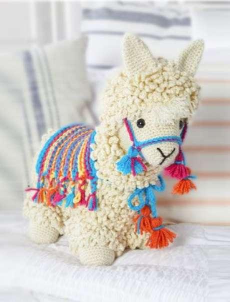 26. Esta é uma linda alpaca de amigurumi. Foto: Amigurumi Patterns