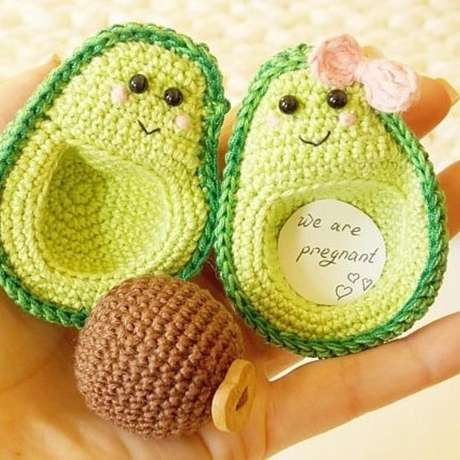 27. Você ainda pode ousar e fazer comidas de amigurumi. Foto: Knitting Day