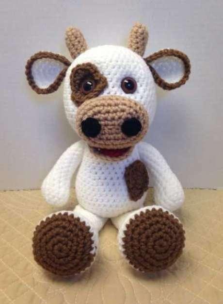 31. Este boi de amigurumi é um excelente presente para crianças. Foto: Casa do Amigurumi
