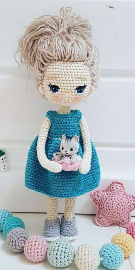 37. A boneca de amigurumi é mais delicada que os modelos tradicionais. Foto: Crochê e Amigurumi