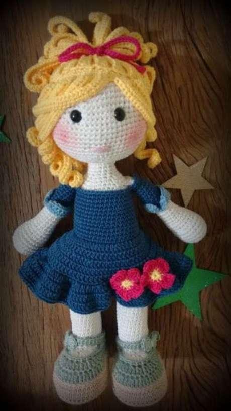 38. A boneca de amigurumi é um excelente presente. Foto: Criativo Ok