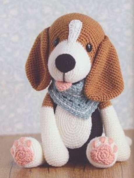 44. Você pode fazer um cachorro de amigurumi de muitas formas. Foto: Arteirices e Costurices