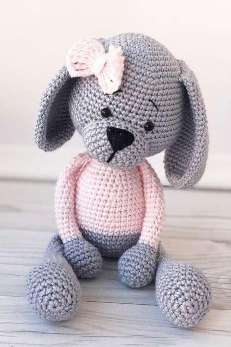 45. O importante no amigurumi é a delicadeza. Foto: Amiguroom Toys