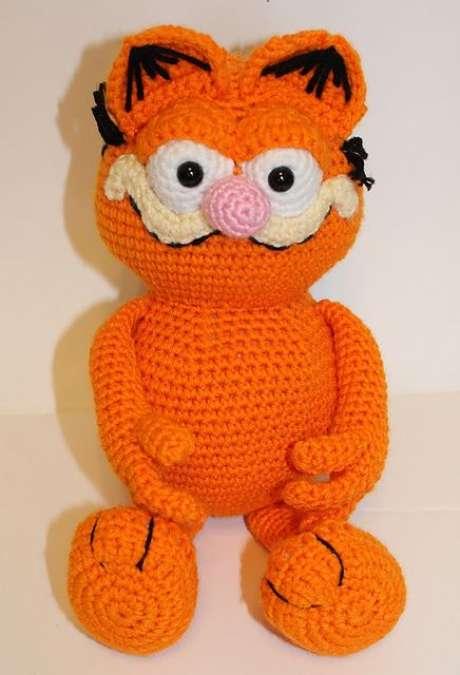 60. Até um Garfield pode ser feito de amigurumi. Foto: Ravelry