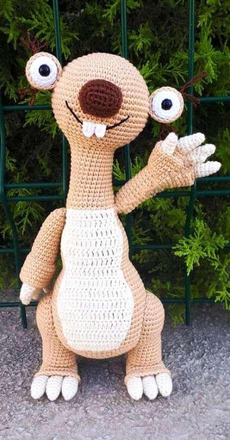 86. Este Sid do amigurumi é perfeito como brinquedo. Foto: Lady Ideas