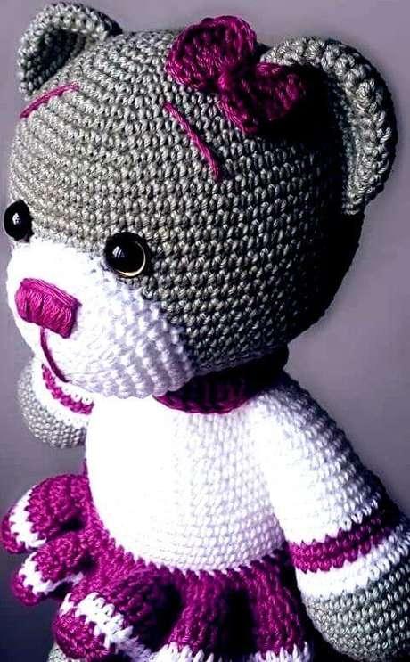 19. O amigurumi pode ter muitas cores. Foto: Graficos de Crochê