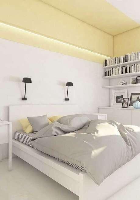 17. Decoração minimalista para amarelo e branco – Foto: Assetproject