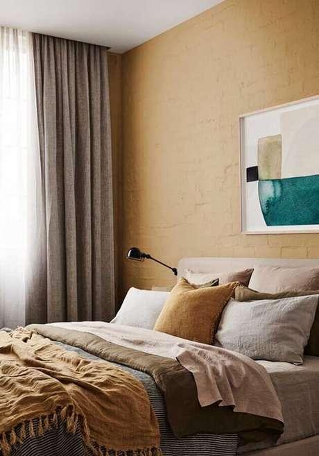 2. A decoração do quarto amarelo pode ser super aconchegante e alegre – Foto: Home Decor Ideas