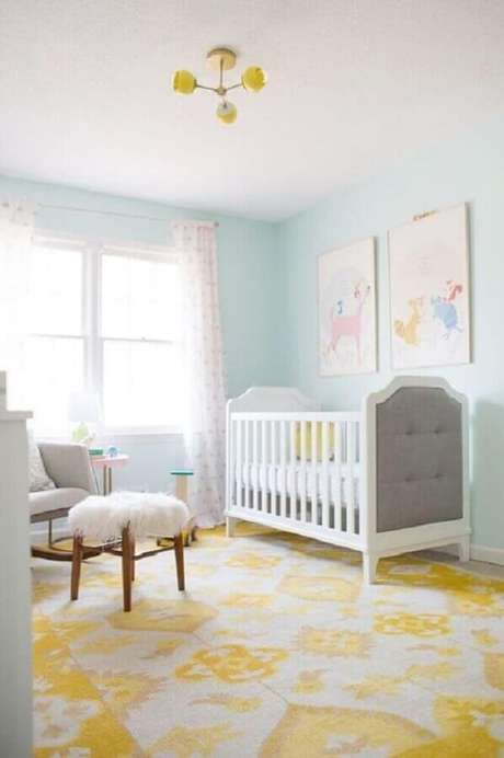 25. Decoração para quarto de bebê amarelo e azul – Foto: Webcomunica