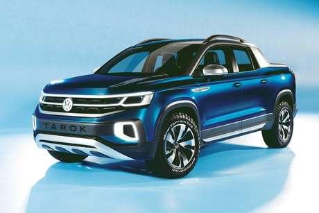 Futura picape da Volkswagen: projeto Tarok vai mirar na Fiat Toro.