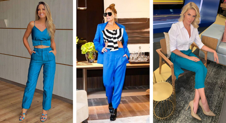 Famosas mostram como vestir calça azul (Fotos: Instagram/Reprodução – Divulgação)