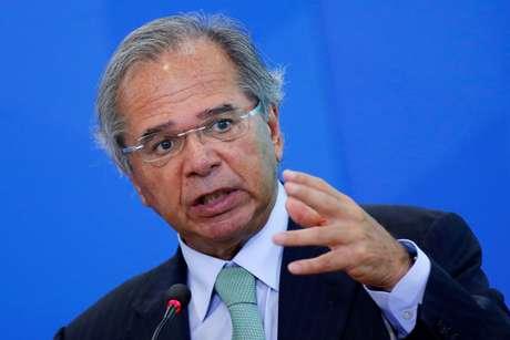 Ministro da Economia, Paulo Guedes, participa de evento no Palácio do Planalto 20/02/2020 REUTERS/Adriano Machado