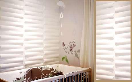 12. A cerâmica para quarto do bebê com efeito 3D traz descontração ao espaço. Fonte: Pinterest