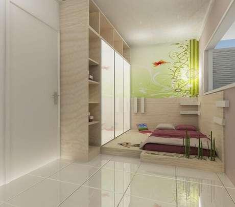 13. A cerâmica para quarto em tom branco combina com diferentes estilos de decoração. Fonte: Diego Oliveira