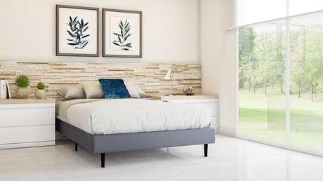 15. A cerâmica para quarto pode ser utilizada como cabeceira de cama. Fonte: Pointer