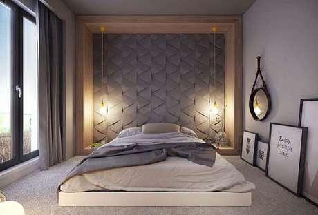 16. A cerâmica pode ser utilizada na parede do dormitório. Fonte: Pinterest