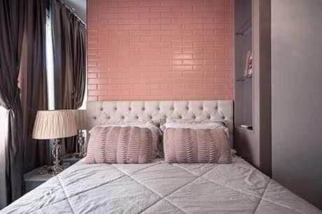 5. Cerâmica para quarto feminino em tom rosa. Fonte: Pinterest