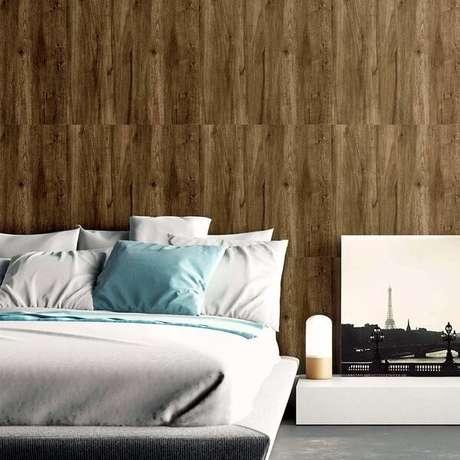 25. Cerâmica para quarto imitando madeira. Fonte: Pinterest