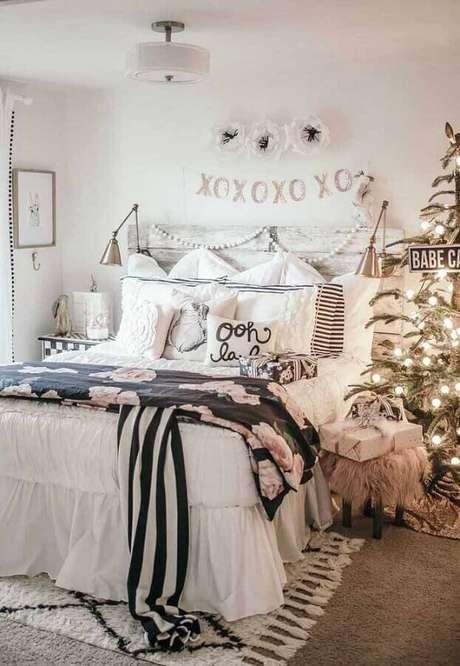 55. Decoração para quarto todo branco com estilo hygge – Foto: Architectures Ideas