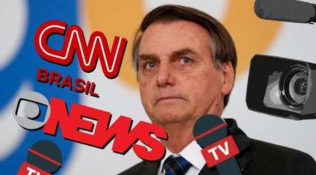 O presidente Jair Bolsonaro faz o jornalismo da GloboNews e da CNN Brasil orbitar em torno dele
