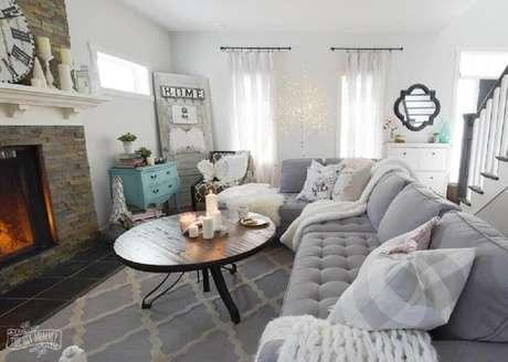 2. Decoração hygge para sala de estar clean – Foto: The DIY Mommy