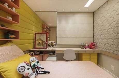 35. Modelo de cerâmica para quarto com textura. Fonte: Pinterest