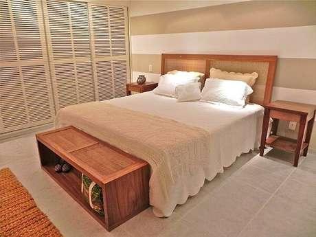 40. Modelo de piso cerâmico para quarto de casal. Fonte: Pinterest