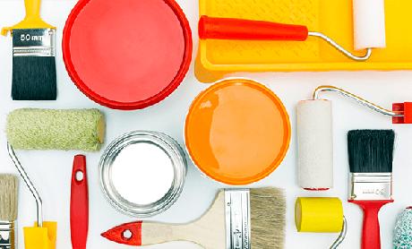 2. Escolher bem os materiais de pintura é um importante passo de como pintar parede – Foto: Blog Amoedo