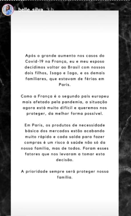 Esposa de Thiago Silva confirma retorno ao Brasil (Foto: Reprodução)