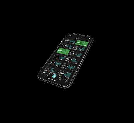 O aplicativo TradeMap tem, entre outras funções, mostrar o tempo real de ativos financeiros para o usuário