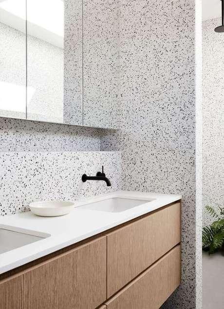 26. Cozinha com revestimento granilite – Via: Pinteret