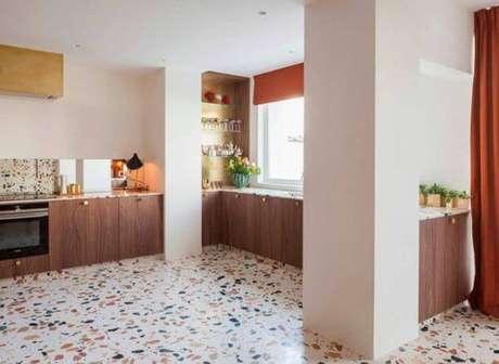 35. Piso moderno para cozinha – Via: Casa da Valentina