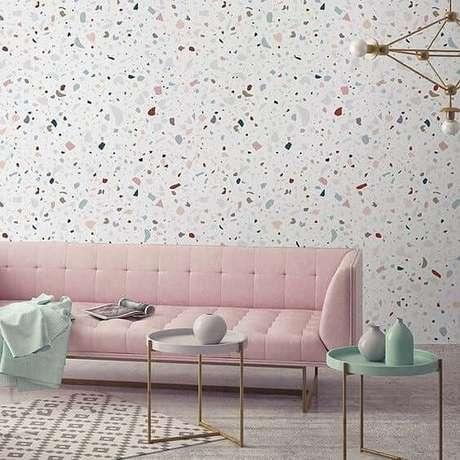 45. Sala rosa e verde, super moderna – Via: Pinterest
