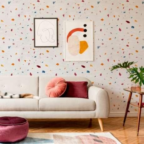 49. Sala colorida e moderna – Via: Papel Decor