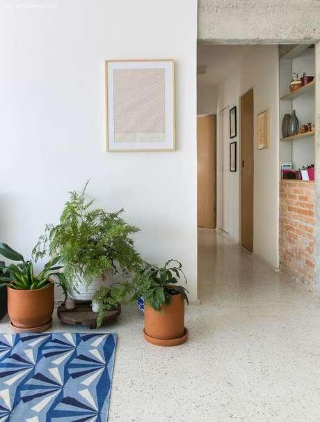 5. Piso granilite branco para decoração de casa – Via: Pinterest