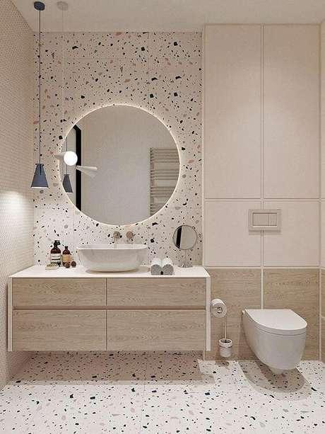 14. Banheiro neutro com decoração moderna – Via: Pinterest