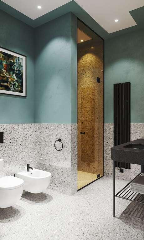 19. Revestimento de granilite para banheiro – Via: Behance
