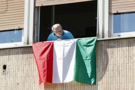 Italiano em isolamento em Roma, capital da Itália