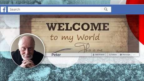 Perfil de Facebook de Peter, que ajudou a viralizar post errado sobre o coronavírus