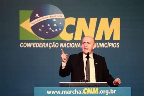 Glademir Aroldi (CNM) durante abertura da XXII Marcha a Brasília em Defesa dos Municípios, no Auditório do CICB, em Brasília (DF)