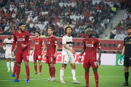 Willian Arão contra o Liverpool, em dezembro de 2019 (Foto: Alexandre Vidal / Flamengo)