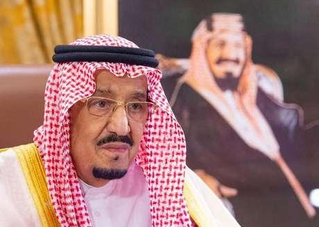 Rei Salman, da Arábia Saudita, em Riad 19/03/2020  Bandar Algaloud/Cortesia da Corte Real Saudita/Divulgação via REUTERS