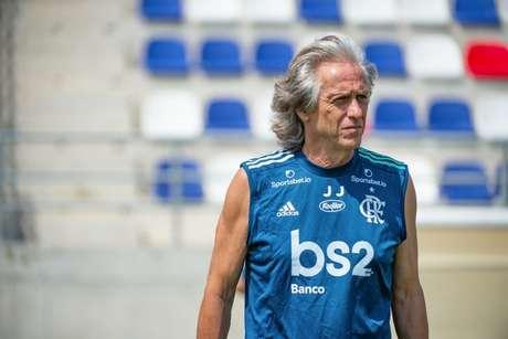 Jorge Jesus optou por retornar a Portugal e passar o período sem jogos junto à família (Alexandre Vidal/Flamengo)