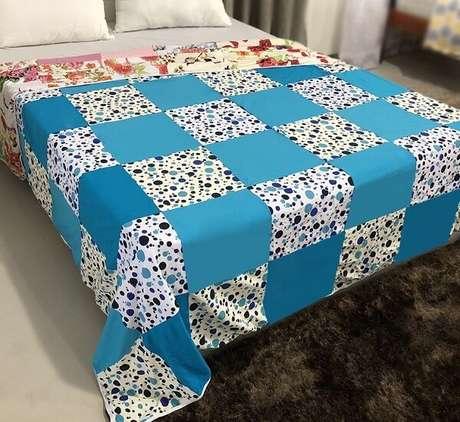 4. Existem vários formatos de tecido que podem ser utilizados em uma colcha de retalhos – Foto: Via Pinterest