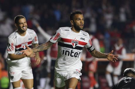 Daniel Alves é o artilheiro do São Paulo em 2020 com 4 gols (Foto: Divulgação/São Paulo)